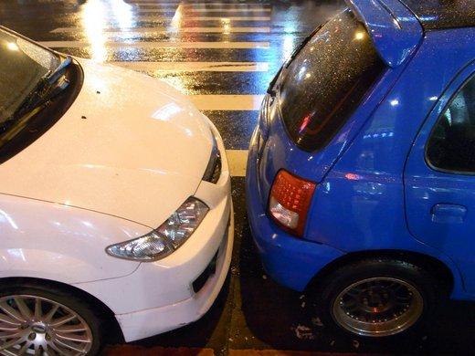 台湾の縦列駐車