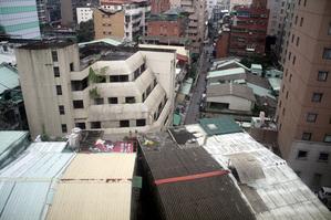 台湾のホテルから見た景色